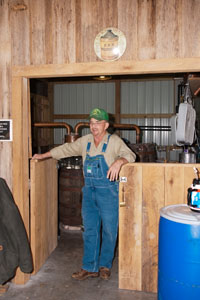 Ronald Lawson, one of the three local legends of moonshine