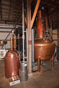 This is the still used to manufacture the moonshine here at Short Mountain Distillery
