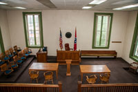 This courtroom is still used on Friday's, resulting from case overloads at the new County Complex.