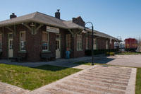 "The historic Crossville train depot featured in the movie ""Sergeant York"""