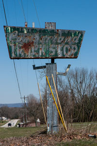 Heading east on Highway 70 just outside of Crossville I came across this old sign. The interstate system was not always progress for some