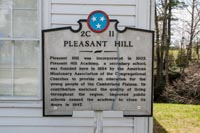 The State Historical Marker for Pleasent Hill.