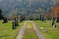 One of the oldest and largest cemeteries in the area surrounded by beautiful rolling hills