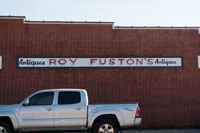 The old Fuston's store signage