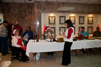 The county Judge and commisioners served a nice selection of refreshments