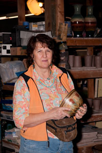 Susan DeMay at her studio