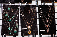 Kathe Reed Nelson offers her hand made jewelry incorporating semi-precious stones