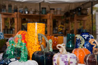 Bare Glass Studio stop 8, offers glass, pottery, and fibers