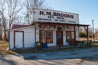 The R.M. Brooks General Store was built in the 1930's and held the Rugby Post Office from 1957-1999