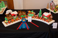 First place winner in the gingerbread decorating contest, adult catagory
