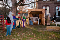The live nativity scene was sponsored by Brush Creek Baptist Church