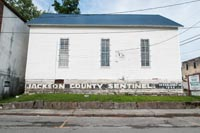 The original home for the Jackson County Sentinel which is still in print today.