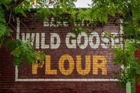 Wild Goose Flour was ground at the local mill