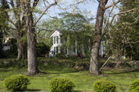 Old antebellum homes are found tucked-in, almost from view
