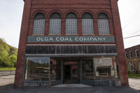 "The store was used for a scene in the movie ""October Sky"", and still retains the Olga Coal Company facade created for the film"