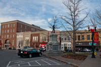 Main Street and the Civil War Monument