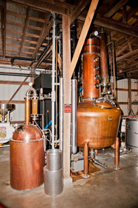 The short Mountain Distillery Still