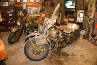 The museum displays some of the best military bikes around