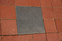 Sidewalk Insets which chronicle the history of McMinncille are found all along Main Street