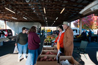 Farmers offer customers the freshest farm grown produce every Saturday morning