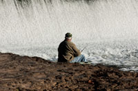 Relax, whether you fish or just want to enjoy the sights and sounds of the falling water