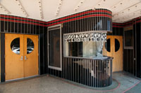 The art deco ticket booth