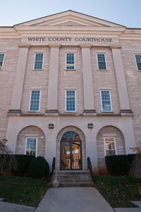 The courthouse enterance