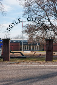 Doyle Elementary School now occupies where the Doyle College once stood